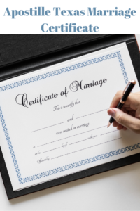 apostille texas marriage certificate